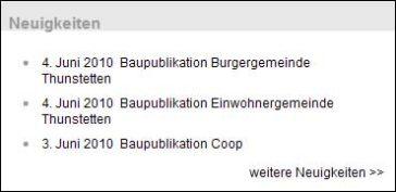 Neuigkeiten auf www.thunstetten.ch