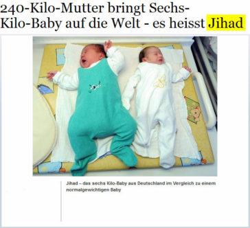 Sechs-Kilo-Baby heisst Jihad