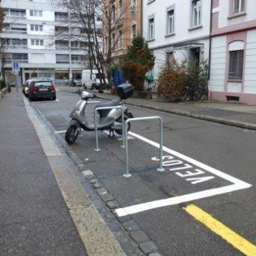 In Basel-Stadt werden jährlich Parkplätze auf der Allmend aufgehoben und umgenutzt.