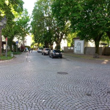 Unser Fahrzeug, abgestellt an der Schönaugasse, Bad Säckingen