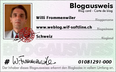 Blogausweis www.blog.wif-softline.ch - Willi Frommenwiler