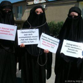 Event Burka vom 5. Juni 2010 in Langenthal