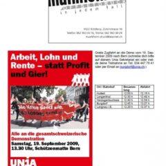 Reto Müller, Thunstetter Lehrer, missbraucht EDV-Infrastruktur für linke Propagandazwecke