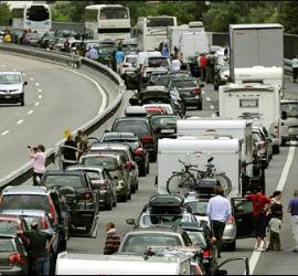 Stau auf Autobahnen