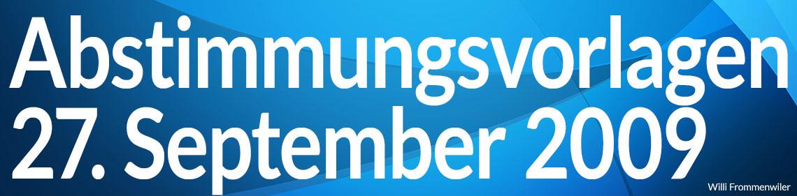 Volksabstimmung vom 27. September 2009