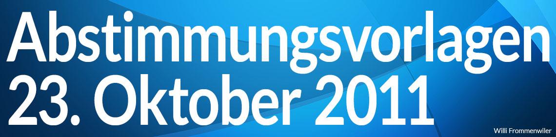 Volksabstimmung vom 23. Oktober 2011