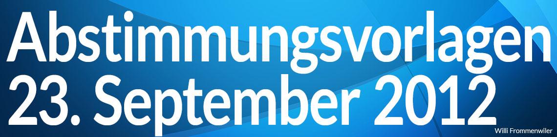 Volksabstimmung vom 23. September 2012