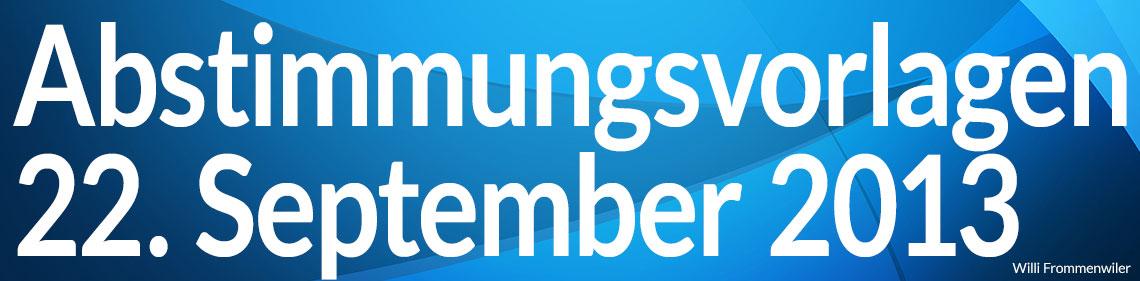 Volksabstimmung vom 22. September 2013